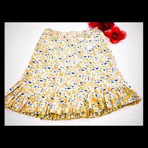 MARC JACOBS Silk Tulip Flower Print Skirt. Size 2